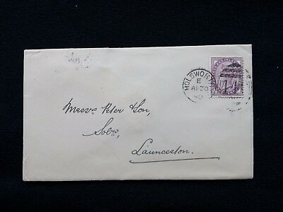 1890 QV COVER HOLSWORTHY 440 DUPLEX 1d LILAC LAUNCESTON & OKEHAMPTON BACKSTAMPS
