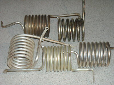 Silver plated copper tube RF matching coils inductors 5 off