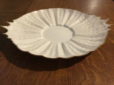 Belleek Tridacna Bread Plate, First Period