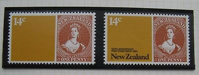 New Zealand 1980 14c Black Omitted Error