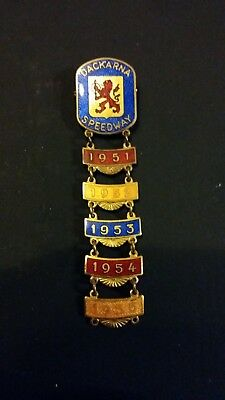 Dackarna (Sweden) Speedway Badge with 1951-55 Years Bars
