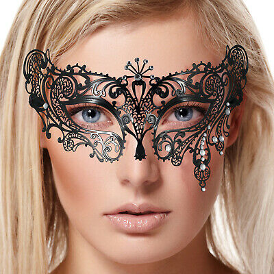 Masquerade Lace Mask Halloween BatWomen Black GD/&SL Party Mask Face Accessories