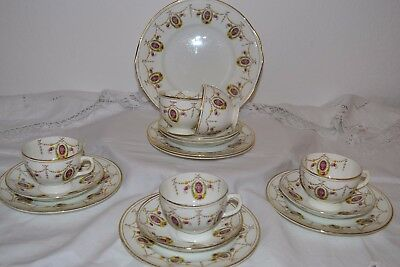 Antique J H Cope and Co Wellington China Bone China Tea Set