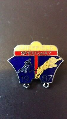 Sheffield Tigers Speedway Badge 1987