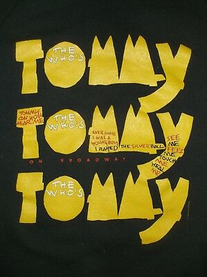 VTG 90's TOMMY musical sweat shirt THE WHO black XL 50/50 Broadway show