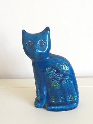 Fantastic Vintage Bitossi Italian Studio Pottery Double Sided Cat Incised