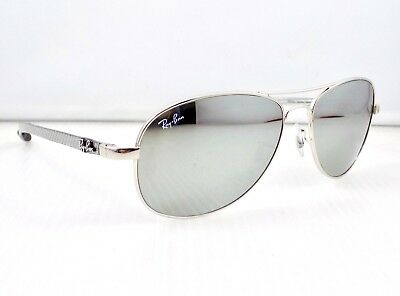 Ray Ban Tech Carbon Fibre Mirrored Aviator RB8301 Sunglasses & case