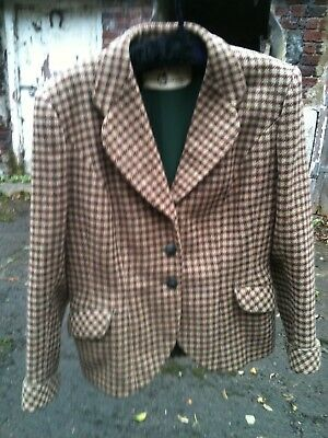 Vintage 1940s Scottish tweed jacket, approx size 14.