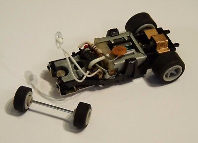Matchbox Powertrack 12 volt slot car chassis complete great condition.