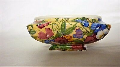 Royal Winton Art Deco small footed dish / bowl. Sweet Pea chintz design.