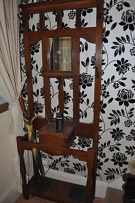 antique Victorian mahogany whatnot coat and hat stand