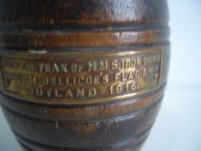 Ww1 Match Barrel H.m.s Iron Duke Jutland 1916 Flagship