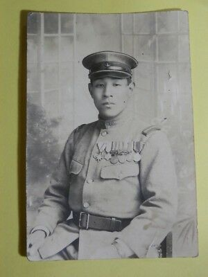 WW2 Japanese Army Sergeant's formal attire picture.Mr ISOBE