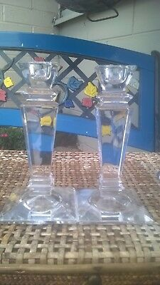 Beautiful Tyrone Crystal Candlesticks