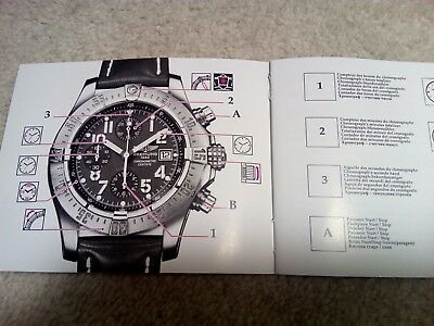 Breitling Chronograph Instruction Manual Book