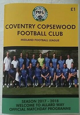 Coventry Copsewood v Coventry Alvis 2017/18 football programme