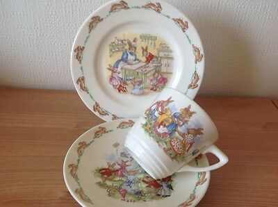 BUNNYKINS  royal doulton child's Cup/saucer/plate. Vintage. Perfect