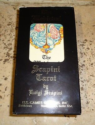 Unused Boxed The Medieval Scapini Tarot Cards By Luigi Scapini