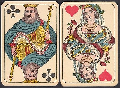 Scarce antique Lattman playing cards for Denmark .c 1900 Germany