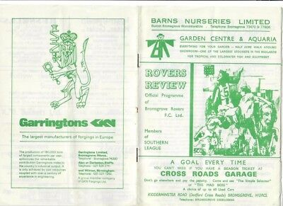 Bromsgrove Rovers v Atherstone Town (FA Trophy R3 Replay) - 24/02/1976