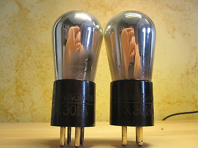 # PAAR # CUNNINGHAM # CX301-A # RCA # ENGRAVED BASE # TRIODE # 201 01's # 1920's