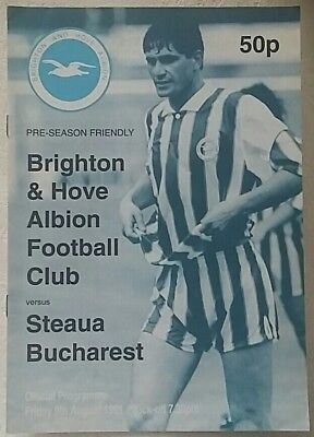 Brighton & Hove Albion v Steaua Bucharest (friendly) 1991/92 programme