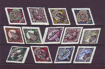 1923 Lithuania Litauen Union of Memel 13v MNH stamps set