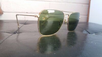 Ray Ban B&l  Mod. Caravan 58 Mm   Frame Vintage Made In Usa   Sunglasses 80's