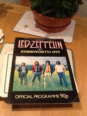 Led Zeppelin at Knebworth Programme 1979
