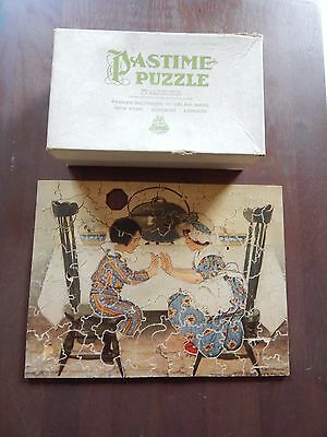 "*vintage Pastime Puzzle Wood Jigsaw Puzzle ""pease Porridge Hot"" Over 100 Pieces*"