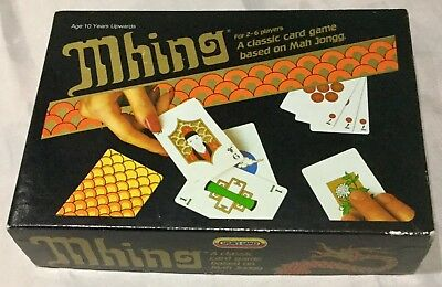 Vintage Spear's MHING Classic Card Game - Based on Mah Jongg 2-6 Players Age 10+