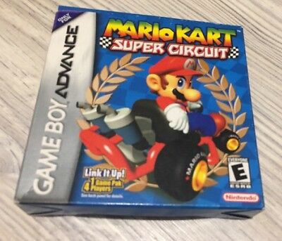 Nintendo Game Boy Advance - Mario Kart Super Curcuit - US - Box, Anleitung, Etc