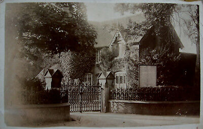 Early Real Photo Postcard. Unidentified burial building.