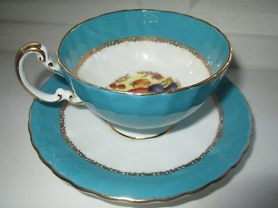 Aynsley Bone China Tea Cup And Saucer Signed By D.jones