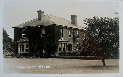 Early Real Photo Postcard. Southmoor House.