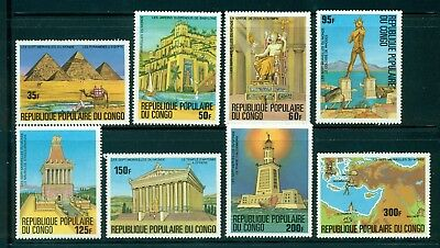 Congo MNH Selections: Scott #460-467 Seven Wonders of the Ancient World CV$11+