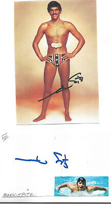 Mark Spitz - Genuine Hand Signed Autograph With Picture Of Famous Poster.