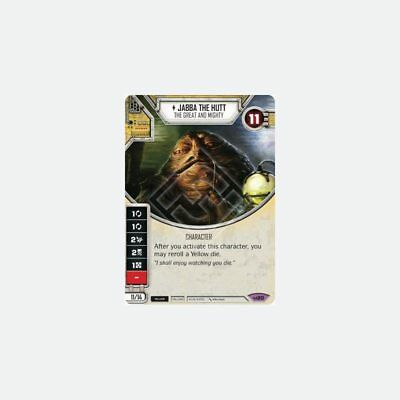 Jabba the Hutt – The Great and Mighty - Mint Star Wars Destiny CCG  Single Ca...