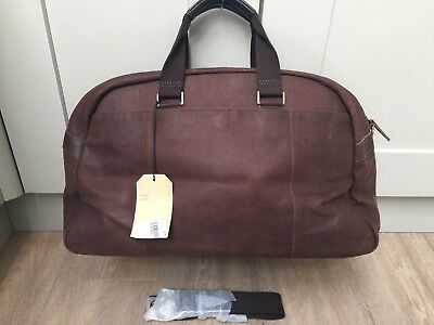 New John Lewis Rio Ii Leather Holdall With Shoulder Strap