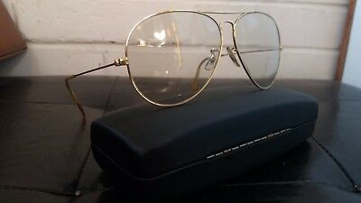 Ray Ban B&l  Mod. Aviator 10 K  Gold Filled Vintage Made In Usa Sunglasses 80's