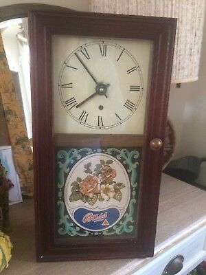 Rare Vintage Bass Brewery Wall Clock Breweriana Collectables Original
