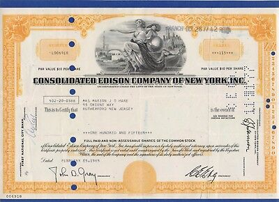 013 USA 1965 Aktie - Consolidated Edison Company of New York, Inc., 115 Shares