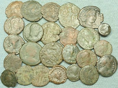 Lot Of 25 Roman Bronze Coins