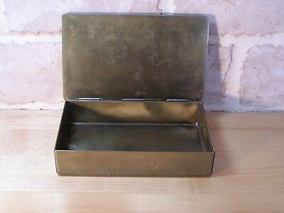 Solid Brass Arts and Crafts Period Box Impressed Mark Unknown Maker