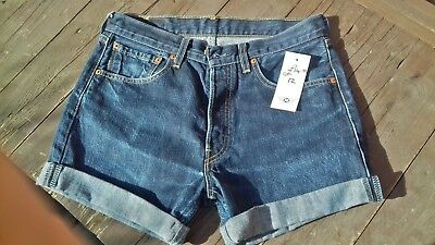 "Levi  501 Denim Shorts 31"" Waist"