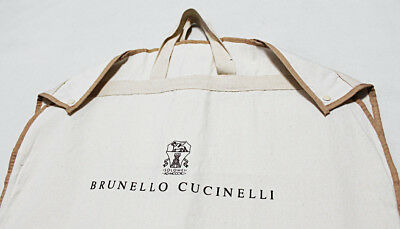 "NEW BRUNELLO CUCINELLI Men Thick-Canvas Travel Garment Suit Jacket Bag 38"" X 23"""