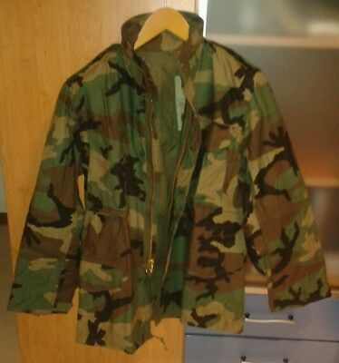 M65 M-65 Camouflage Parka Jacke jacket USA 80s Small Regular Neu New Scovill