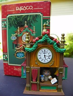 """Enesco  """"it's Time For Christmas"""" Treasury Of Christmas Ornaments 1St In Series"""