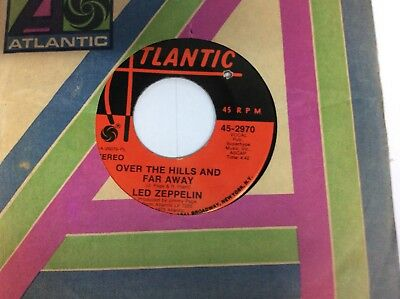 """Led Zeppelin Over The Hills And Far Away / Dancing Days 7"""" Vinyl 45"""