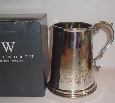 Wentworth Pewter Tankard Fly Fishing Trout Boxed 1 Pint